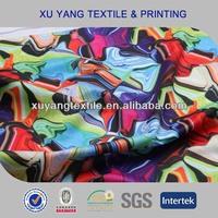 New 2015 poly spandex custom digital printed swimwear fabric