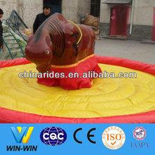 Theme park decorations bull riding games fun fair machines