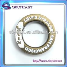 Fashion Enamelled Brass Eyelet with Raised and Engraved Logo