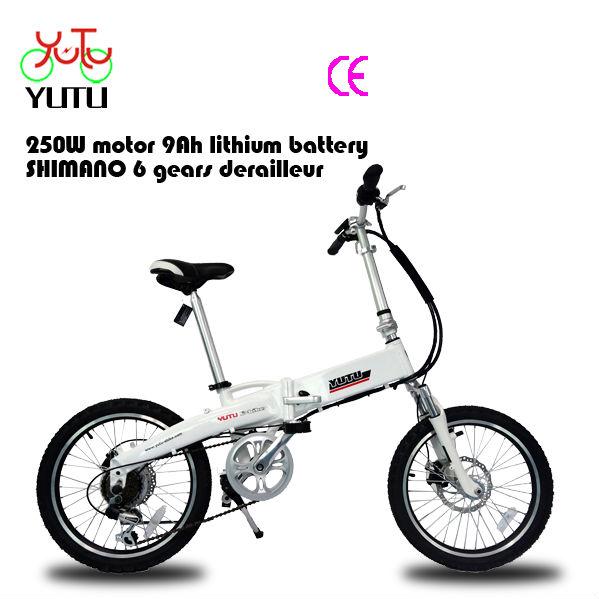 Elektrikli katlanır bisiklet/20inç 250w katlanabilir bycicle