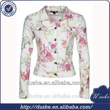 U'sake ladies fancy denim jackets with flower print