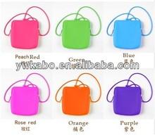 Silcione rubber candy color purese shoulder bag