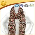 2015 caliente de la venta del leopardo impreso 100% de algodón de la bufanda