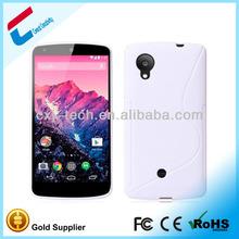 China supplier waterproof case for nexus 5, TPU soft flip case for LG Nexus 5, S line design Nexus 5 case