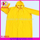 Yellow 100%waterproof pvc raincoat