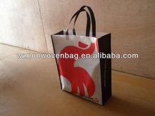silk printed Non Woven supermarket Shopping bag