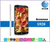 Lenovo S920 smart phone Quad Core MTK6589 1.2GHz CPU 5.3 inch touch Screen 1280