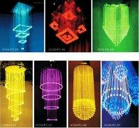 polymer optical fiber lighting for outdoor holiday