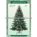 8ftสนแดงญี่ปุ่นต้นคริสต์มาสเทียมต้นไม้พีวีซี