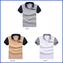 High quality men short clothing custom solid color polo shirt for men