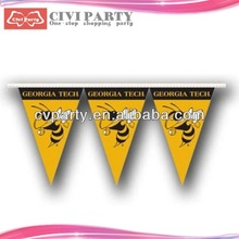 paper Custom High Quality Decorative Colour Party Flag triangle flag string