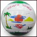 2015 nuevo diseño cosido a máquina pvc voleibol de playa