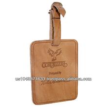 """LR109 4-1/2"""" x 2-7/8"""" Leather Luggage Tag"""