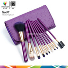 colorful professional 10pcs personalized makeup brush sets with private label(fty)PT1013A