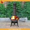 Garden cast iron chimenea