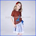 Mejor venta de la juventud girls' camiseta de manga corta camisa de venta al por mayor de alta calidad de los niños t camisa