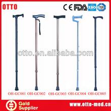 Adjustable walking cane gun