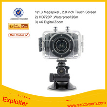 2.0'' LCD Touch Screen 1.3MP HD 720P Action Camera sports hd mini dv