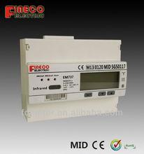 mid approved meter 3 phase 4 wire kwh meter multi-function kwh meter din rail kwh meter rs485