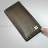 2014 multi-function SJQB-0065BK4U003 mens long leather wallet with card slots