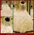 ywd11126 manica lunga organza e pizzo orlo gonna ultime abiti da sposa da sposa fantasia abito da sposa per la vendita