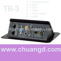 High Quality New Product Conerence Desk Outlets with HDMI TB-3