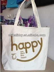 Beautifully printed canvas bag, OEM production canvas tote bag
