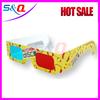Hot sale red blue paper custom logo paper 3d glasses Fire 3d glasses