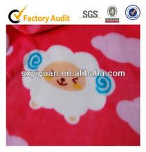 2014 hot sale! 100 polyester sheep printed polar fleece fabric