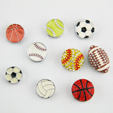 8MM basketball ,baseball,football, volleyball, softball slider charms