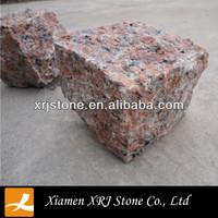 Maple Red Granite Cube Stone G562 Granite Block Price