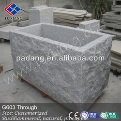 Stone trough sink, G603 grey granite stone trough