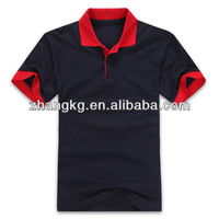 Public's black&red vogue short sleeve polo t-shirt,plain black&red polo t-shirt