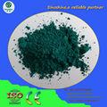 pavo real de cerámica de color verde