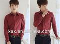de color rojo vino de camisas de vestir de los hombres camisas de compresión