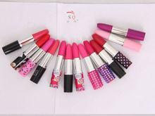 2014 high quality short hot colorful mini lipstick ballpen