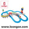 loongon tren eléctrico de juguete de pista de carreras de la batería operada coches de niños