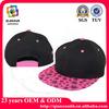 6 panel snapback hats / flat brim 6 panel 5 panel snapback hat / caps