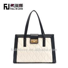 2014 new embroidery fashion design women handbag PU bag manufacture