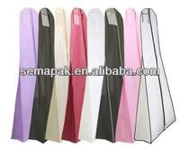 hot sale non woven long dress garment bag&wedding dress cover&wedding dress bag