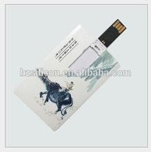 High speed credit card usb pen drive, free logo card usb stick