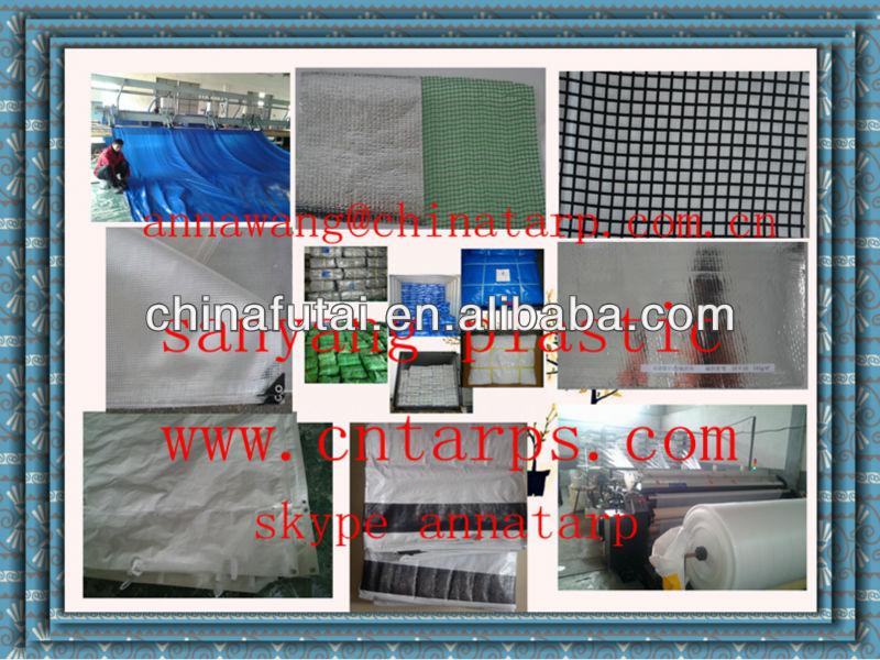 fire retardant fabric waterproof mesh insulated tarps alumimum foil added pe tarpaulin
