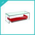 doblado de vidrio templado mesa de café