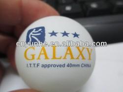 Winho custom 2colors printed celluloid 40mm seamless 3star quality pingpong ball