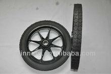 plastic rim semi-pneumatic carrier cart wheel 16''