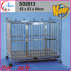 Outdoor stainless steel dog cage dog kennel with wheels