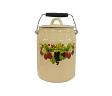 2.0L, 2.5L, 3.0L Enamel Milk Pot Carbon Steel Material Water Bucket With Stainless Steel Handle Enamel Bucket