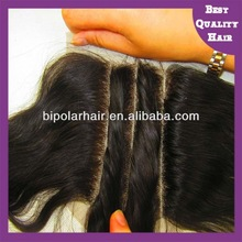Hot selling Brazilian virgin remy 3 part silk base lace closure