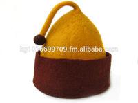 Handmade funny wool felted hat + free shipping, cute hat, gift for birthday, mom, dad, winter headwear