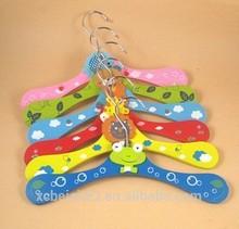 M042 wholesale custom children wooden multi-metal hook slip hanger